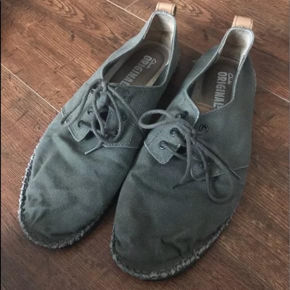 Clarks Originals Canvas Shoes Mens